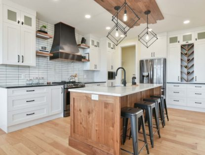 Painted White Rustic Walnut Natural. Kitchen | Painted | Walnut | Contemporary