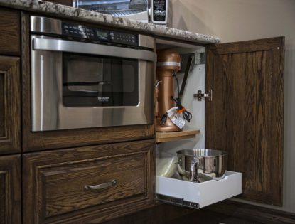 Mixer lift with storage underneath. Accessories | Oak | Unique Feature