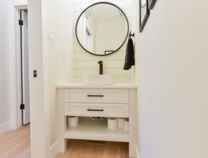 Painted bathroom cabinets with flat panels. Bathroom | Painted | Flat Panel