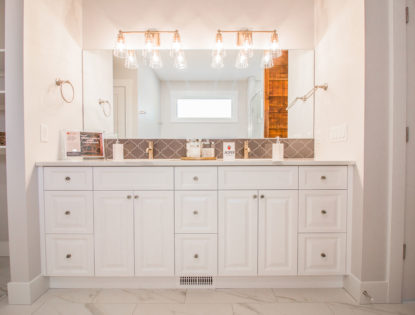 Painted bathroom cabinets with raised panels. Bathroom | Painted | Raised Panel